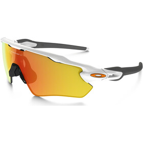Oakley Radar EV Path Pyöräilylasit, polished white/fire iridium